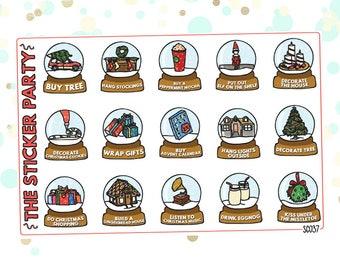 Christmas Bucket List Planner Stickers