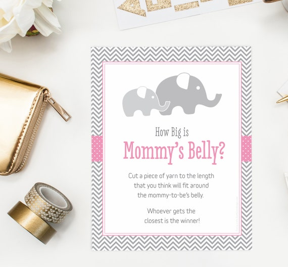 Little Peanut How Big Is Mommy S Belly Game Girl Elephant