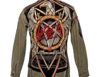 Slayed Life Military Army Shirt Jacket