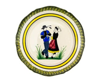 Henriot Quimper Hand Painted French Faience Plate