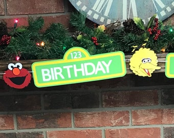 Sesame Street Birthday Sign, Sesame Street door sign, Sesame street photo prop