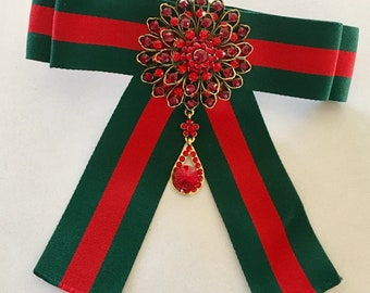 Green and Red - Gucci Inspired Bowtie