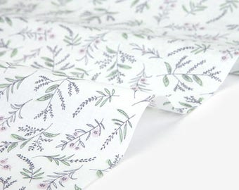 Dailylike (cotton) - In peace Lavandula Fabric- 50cm