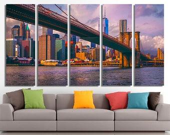 Brooklyn Bridge, New York, Brooklyn Art, New York Canvas, New York Wall Decor, Home decor, Canvas