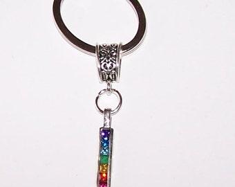 Sterling CHAKRA Key Ring, Key Chain -