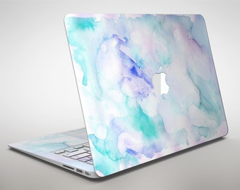 Mint 9 Absorbed Watercolor Texture - Apple MacBook Air or Pro Skin Decal Kit (All Versions Available)