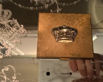 Fabulous VIntage Compact with Crown