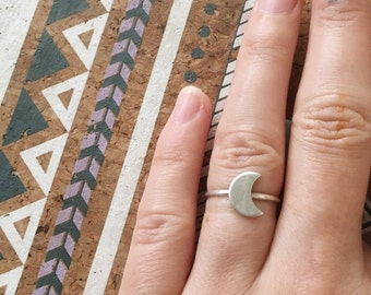 Luna silver stacking ring  // handmade to order // choose your size // recycled sterling silver