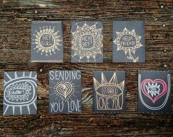 Black & Metallic Cards