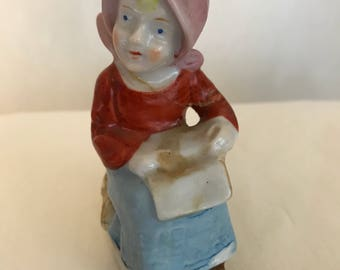 Young country peasant farm girl made in occupied japan