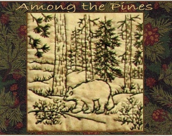 Among the Pines - Bear - Redwork Hand Embroidery Pattern by Beth Ritter - Instant Digital Download