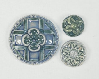 Vintage Porcelain Cabochons- PR-42