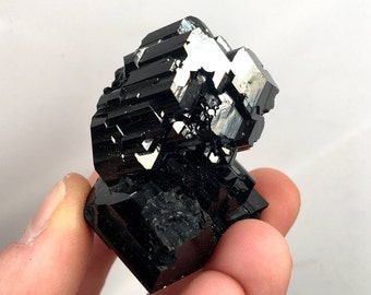 Top! Black Tourmaline Specimen with Mirror like Crystals !!!
