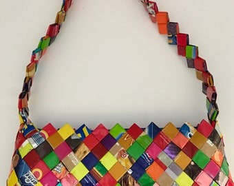 Mexican Candy Wrappers Purse, Gum Wrappers Purse, Gums Sweets Wrappers, Sweets Gum Wrapper, Candy Wrapper Bag, Upcycled Wrappers, Purse