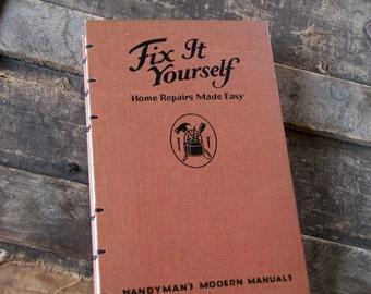 1946 FIX IT Vintage Notebook Journal