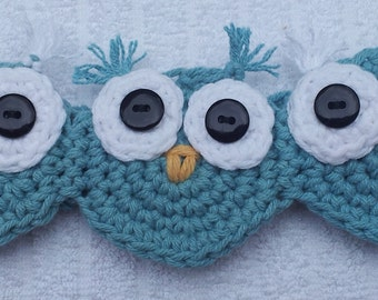 Crochet Owl Headband, Crochet Pattern Pdf, Instant pattern download available