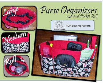 Instant Download Sewing Pattern iPad, Nook, Kindle Fire & More: size 3 Purse Organizer Inserts