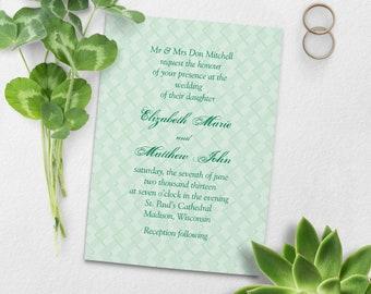 Modern Chevron Wedding Invitation   Printable Wedding Invitation Wedding Suite