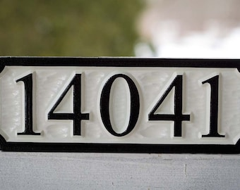 Customize Your Own Address Marker - Personalized House Number Sign - Custom Carved Signs