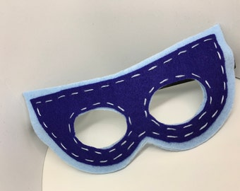 Superhero Mask - Customize and Personalize any colour - Light Blue/Blue