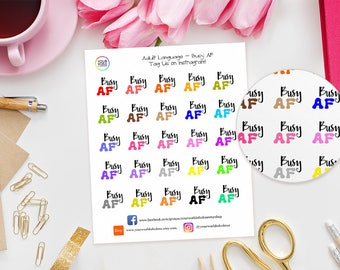 Busy AF Planner Stickers, For Erin Condren, Happy Planner, schedule, Filofax, TN and more! Girl Boss, Adulting Stickers, Adult