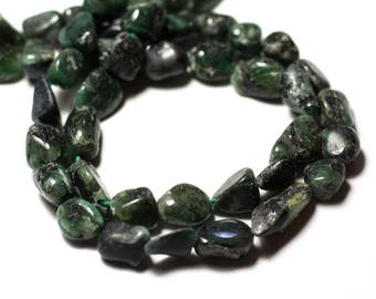 10pc - stone beads - Emerald 7-13mm - 8741140011649 Olives