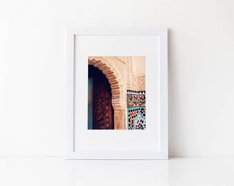 Moroccan Photography: MoroccanDoorway Print, Moroccan Decor, Morocco Photos, Marrakesh, Marrakech, Moroccan Art, Moroccan Architecture