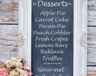 "CHALKBOARDS FOR WEDDINGS 31""x20"" Framed Chalkboard Chalk board French Country Kitchen Baroque Framed Shabby Chic Home Office"