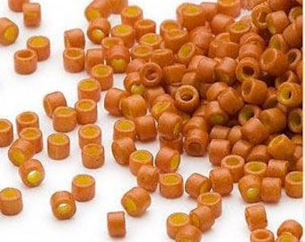Miyuki Delica Seed Beads 11/0 Opaque Pumpkin