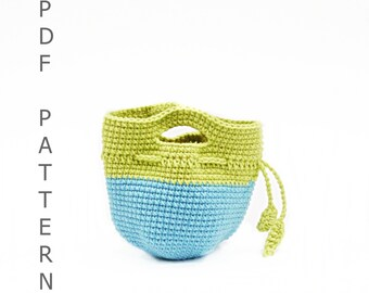 PDF Crochet Pattern - Apple Cozy Lunch Bag,  DIY tutorial