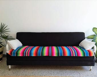 serape blanket mexican serape blanket bohemian style blanket multicolor striped mexican blanket yoga mat yoga blanket