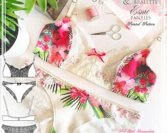 PRINTED sewing pattern- Esme Panties & Rosie Bra - from EVIE la LUVE