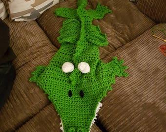 Crochet Dragon cocoon blanket