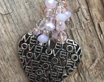 LOVE HEART Purse Charm   Valentine Charm   Heart Purse Charm   Valentine Gift   Engagement Gift   Gift for Bride   Love Purse Charm