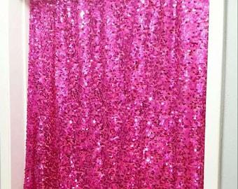 1st Birthday Backdrop, Hot Pink Sequin Backdrop, Glittery Birthday Girl, 1st Birthday Girl, One Year Old, Baby's 1st Birthday,Happy Birthday