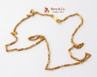 SaLe! sALe! Ornate 14 K Yellow Gold Chain