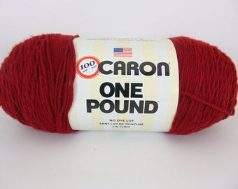 Claret - Caron One Pound Yarn 100% acrylic worsted weight - 2606