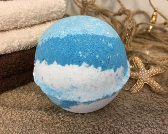 Jumbo Dancing Waters Bath Bomb 7.5 oz, Aromatherapy Essential Oil, Hydrating Bath Fizzy for Dry Skin, Nourishing Coconut Oil
