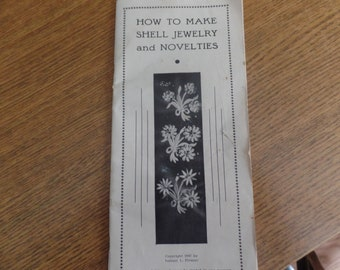 How to Make shell Jewelry And Novelties Vintage  1947 Booklet