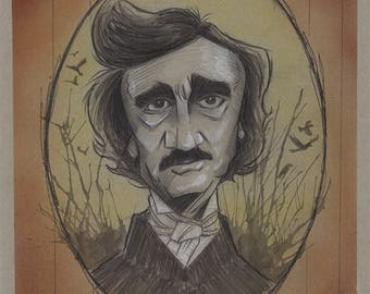 Edgar Allan Poe Illustration