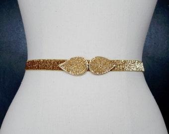 Bridal Belt, GoldBridal Belt, Gold Bridesmaid Belt, Wedding Sash, Gold  Wedding Sash, Best Friend Bridal 192G