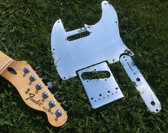 Fender Telecaster Custom Brushed Aluminum Parts