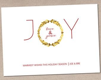 Joy Love Peace: Holiday Card