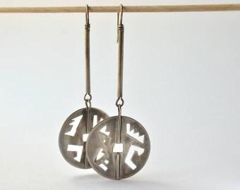 long dangle earrings silver