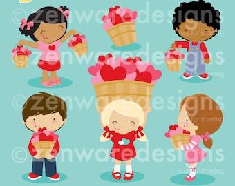 Love Bucket Valentine Clipart