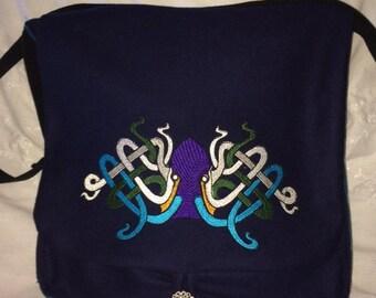 Octoknot Haversack- wool and silk