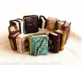 Tiny Vintage Book Bracelet Tutorial