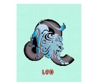 Leo Cross Stitch Chart