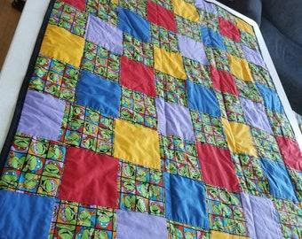 Teenage mutant Ninja turtles quilted blanket