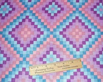 Fabric, Quilting, OOP, 1 YARD, Purple, Orchid, vintage fabric,Hoffman,  Destash